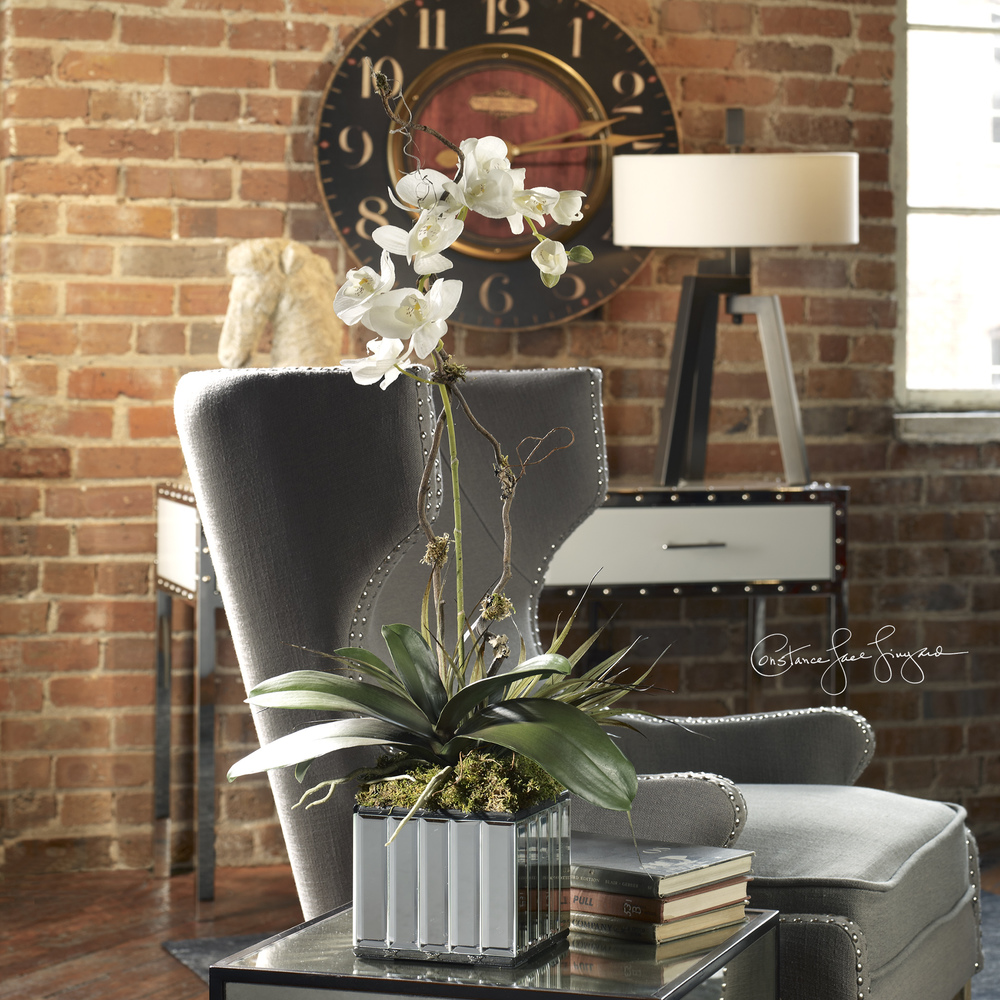 Uttermost Company - Kaleama Orchids, White