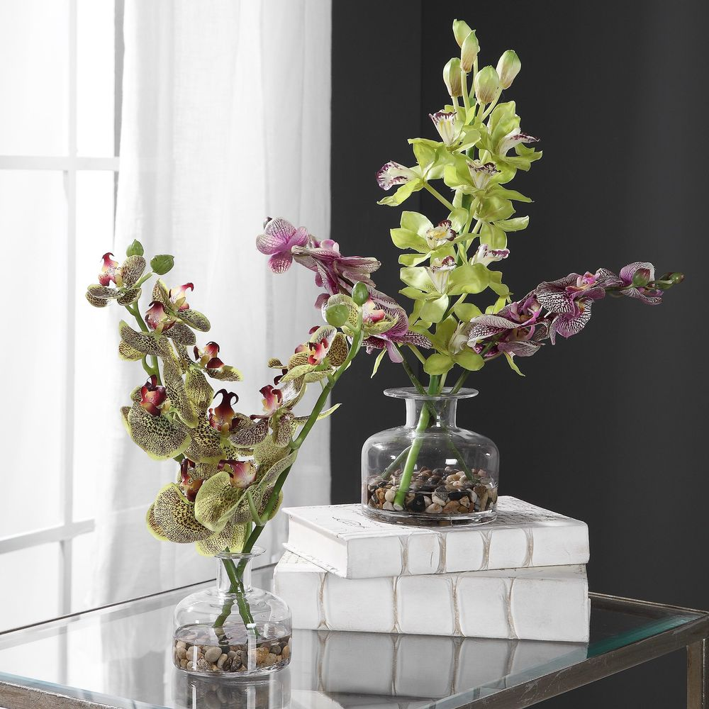 Uttermost Company - Malin Orchid Bud Vases, Set/2