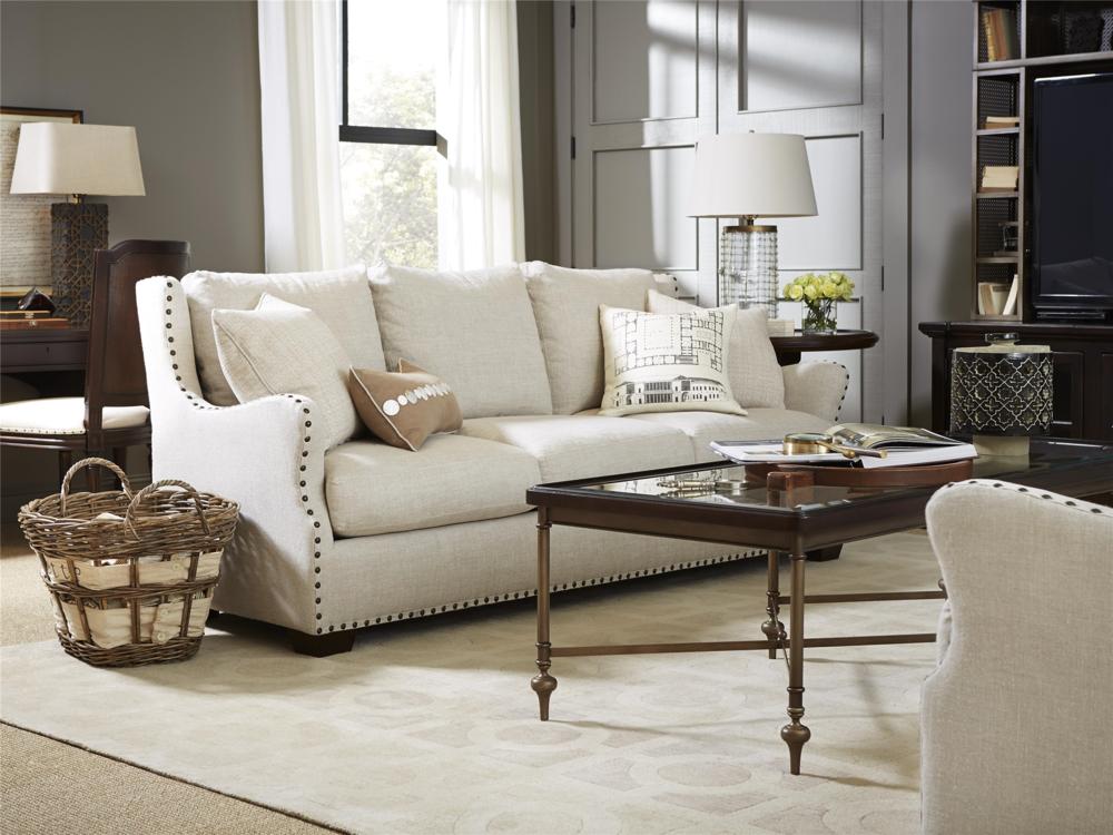 Universal Furniture - Connor Sofa (Belgian Linen Stone)