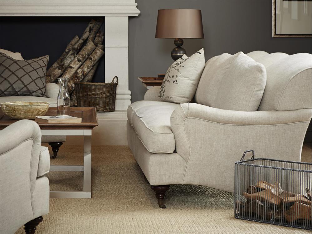 Universal Furniture - Churchill Sofa (Belgian Linen Stone)