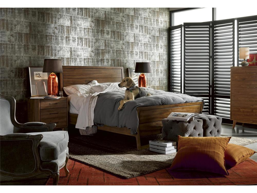 Universal Furniture - Barkley Ottoman (Grey Cloud Velvet)