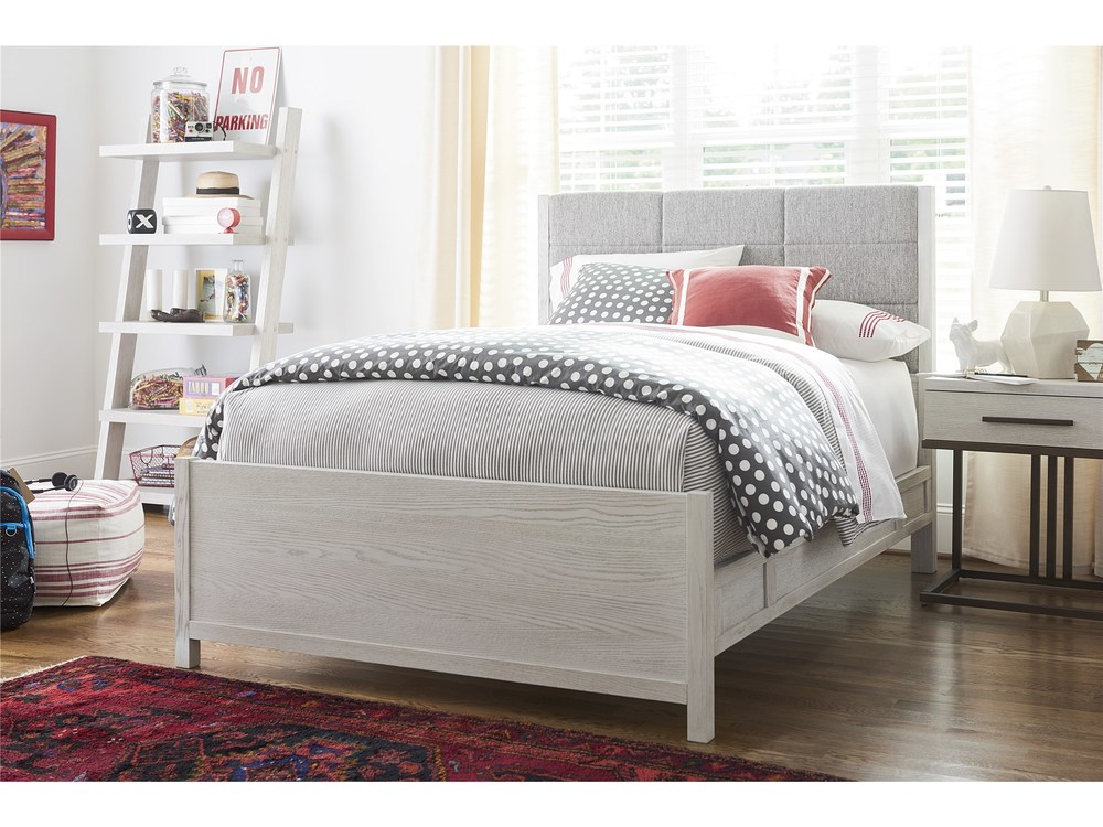 Universal Furniture - Upholstered Bed with Rails, Queen