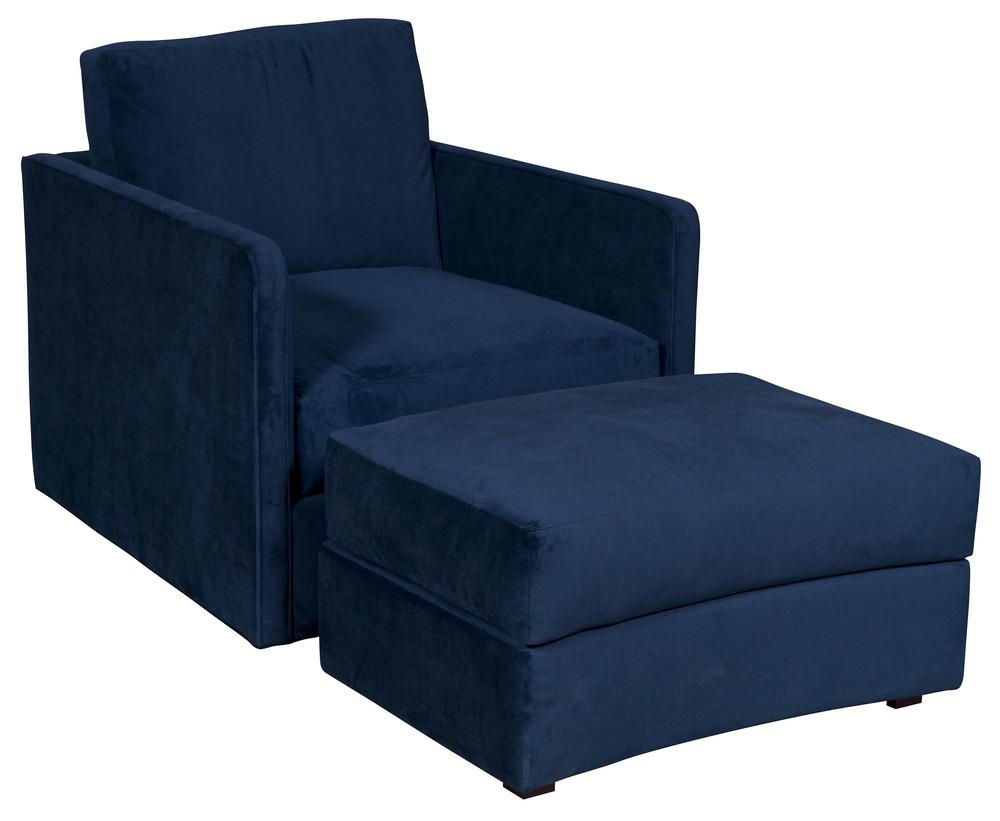 Vanguard Furniture - Wynne Swivel Chair and Ottoman, Village Ink