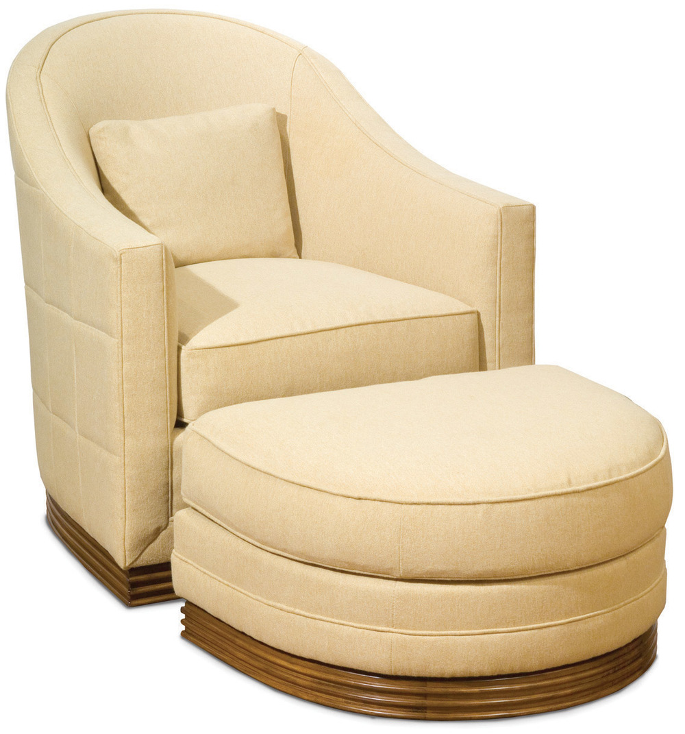 Vanguard Furniture - Syms Swivel Chair and Ottoman