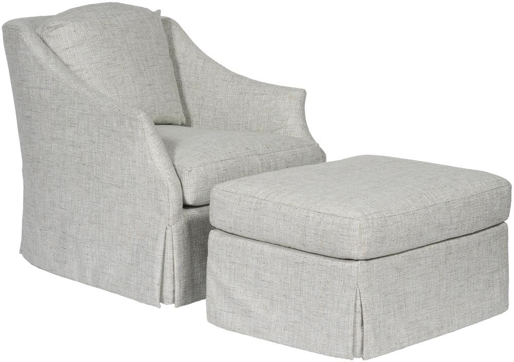 Vanguard Furniture - Waterfall Skirt Swivel Chair and Ottoman