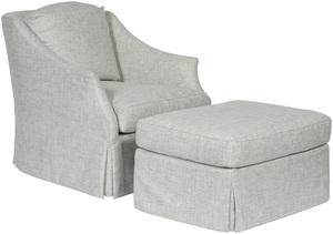 Thumbnail of Vanguard Furniture - Waterfall Skirt Swivel Chair and Ottoman