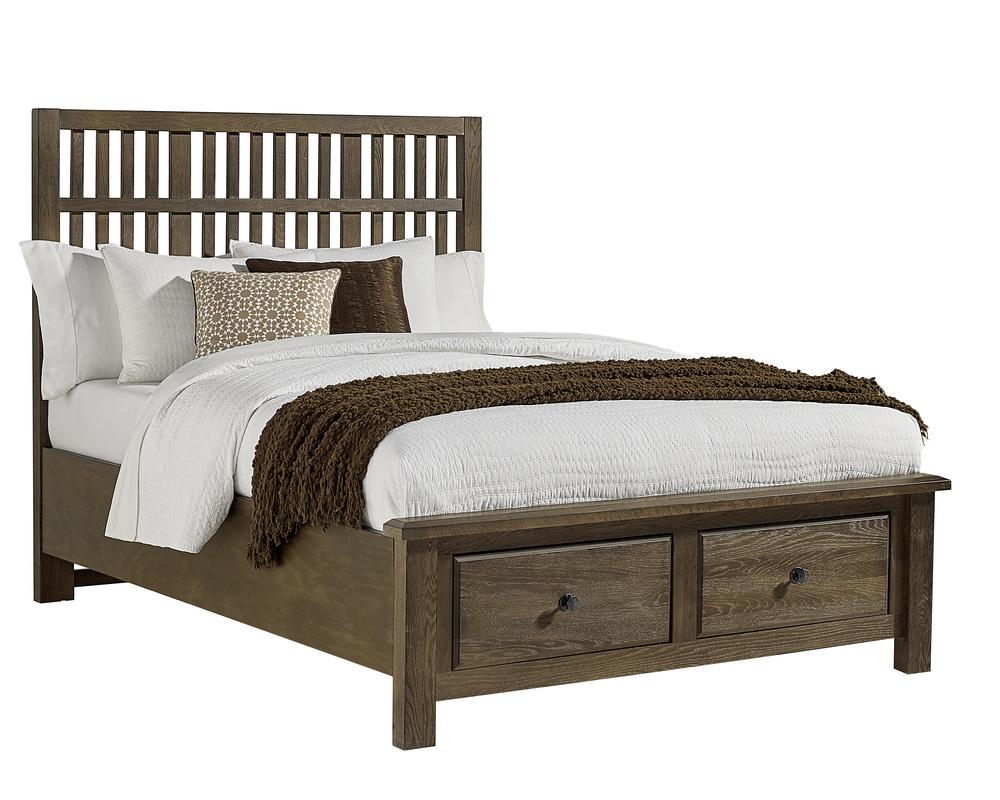 Vaughan Bassett - Craftsman Slat Bed With Footboard Storage