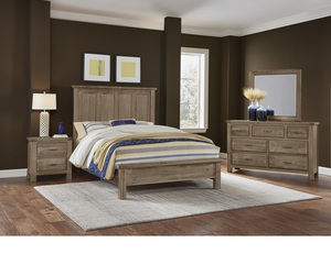 Thumbnail of Vaughan Bassett - Mansion Bed With Low Profile Footboard