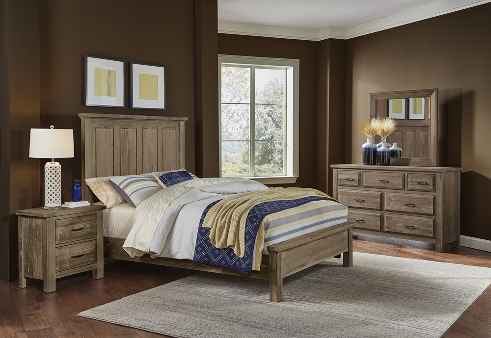 Vaughan Bassett - Mansion Bed With Low Profile Footboard