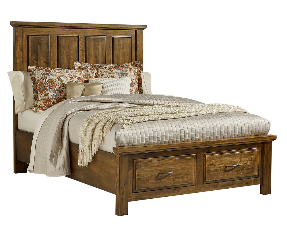 Vaughan Bassett - Mansion Bed With Storage Footboard