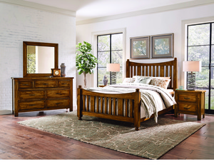 Thumbnail of Vaughan Bassett - Slat Poster Bed With Slat Poster Footboard