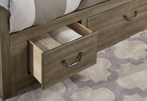 Thumbnail of Vaughan Bassett - Elevator Slat Bed With 1 Side Storage