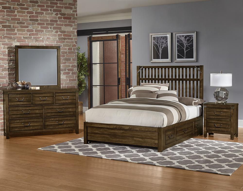 Vaughan Bassett - Elevator Slat Bed With 1 Side Storage