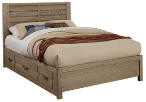 Thumbnail of Vaughan Bassett - Horizontal Plank Bed 1 Side Storage Unit