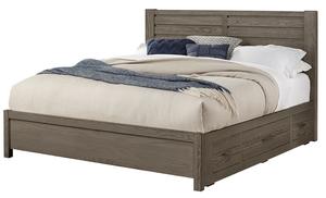 Thumbnail of Vaughan Bassett - Horizontal Plank Bed 1 Side Storage Unit