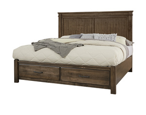 Thumbnail of Vaughan Bassett - Mansion Bed With Footboard Storage