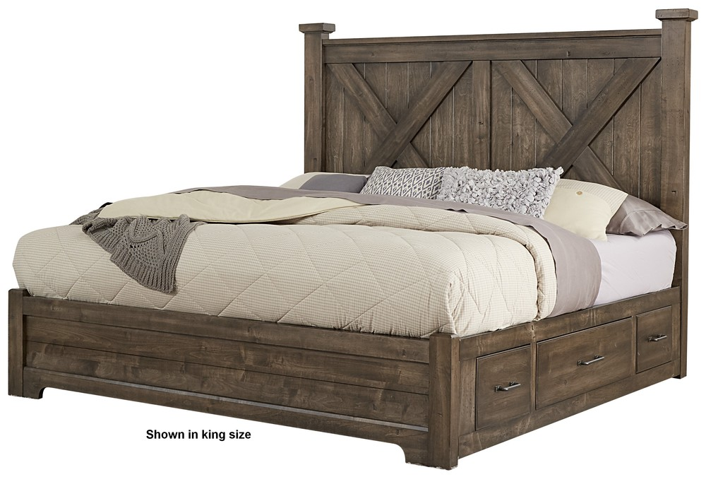 Vaughan Bassett - X Bed With 1 Side Storage