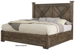 Thumbnail of Vaughan Bassett - X Bed With 1 Side Storage