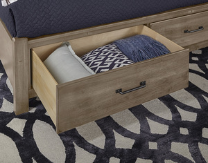 Thumbnail of Vaughan Bassett - X Bed With Footboard Storage