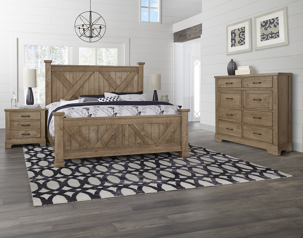 Vaughan Bassett - X Bed With X Footboard