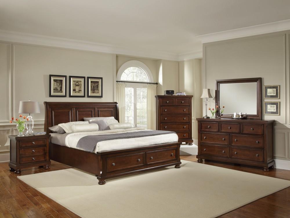 Vaughan Bassett - Sleigh Storage Bed