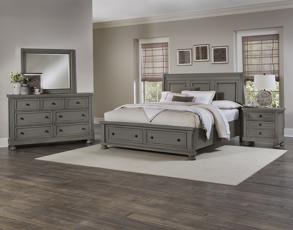Vaughan Bassett - Sleigh Storage Bed
