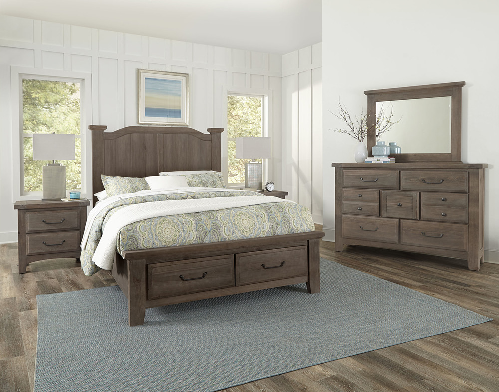 Vaughan Bassett - Arch Storage Bed