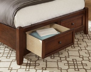 Thumbnail of Vaughan Bassett - Mansion Bed With Storage Footboard