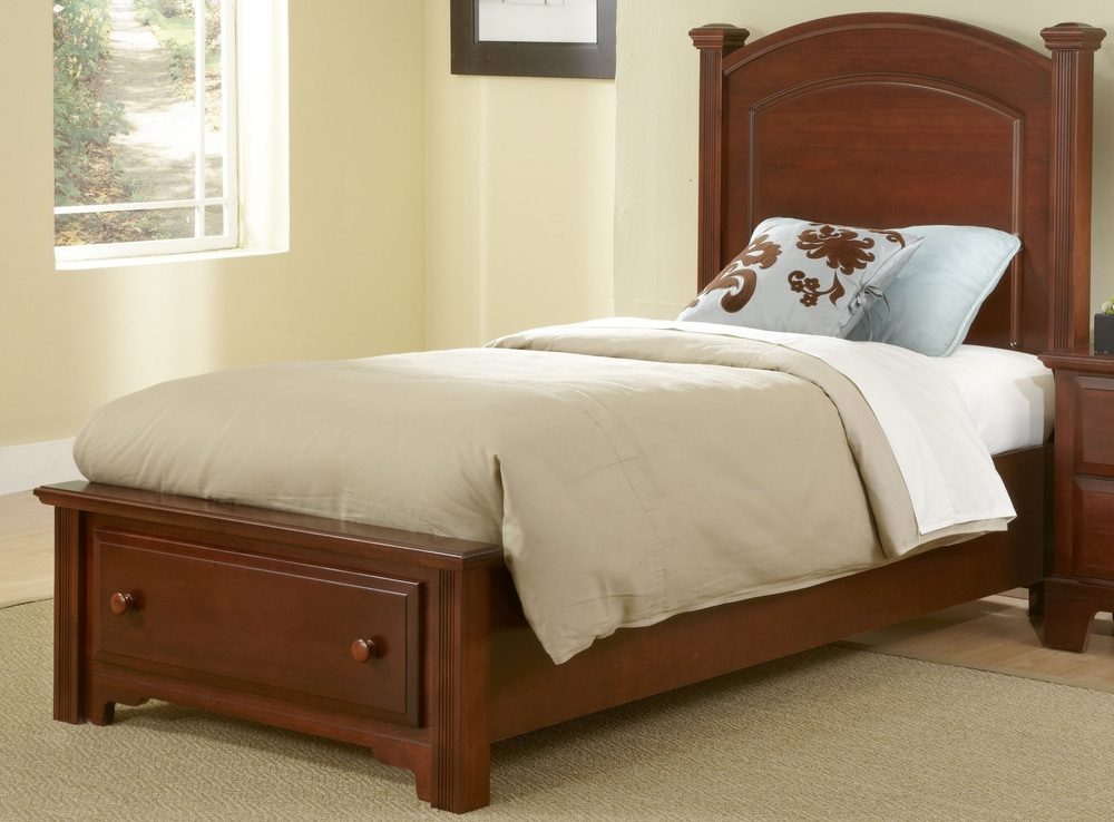 Vaughan Bassett - Panel Bed With Storage Footboard