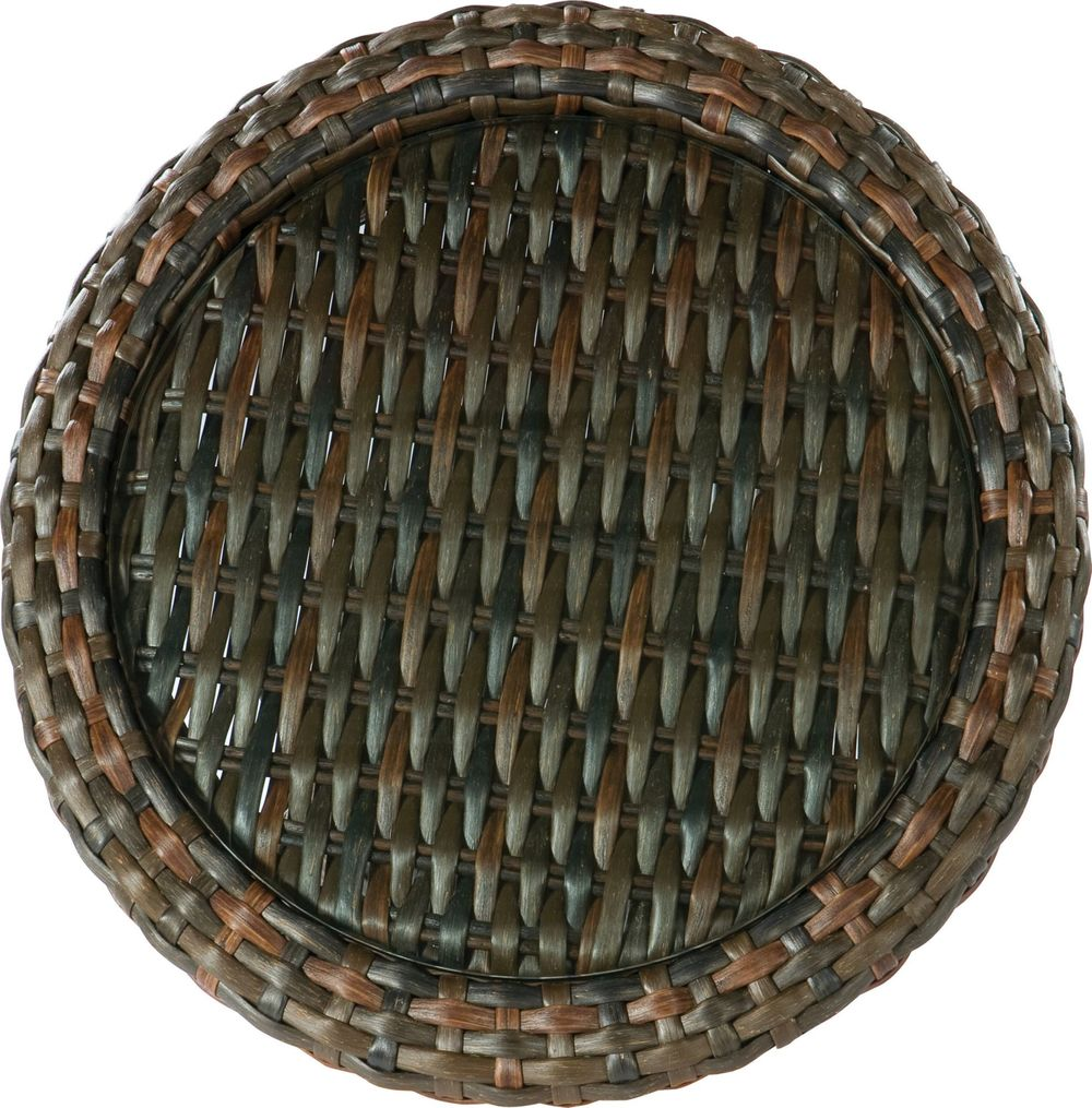 Lane Venture - Round End Table, Woven