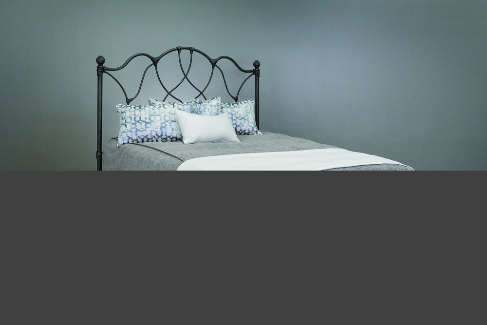 Wesley Allen - Headboard with Metal Surround