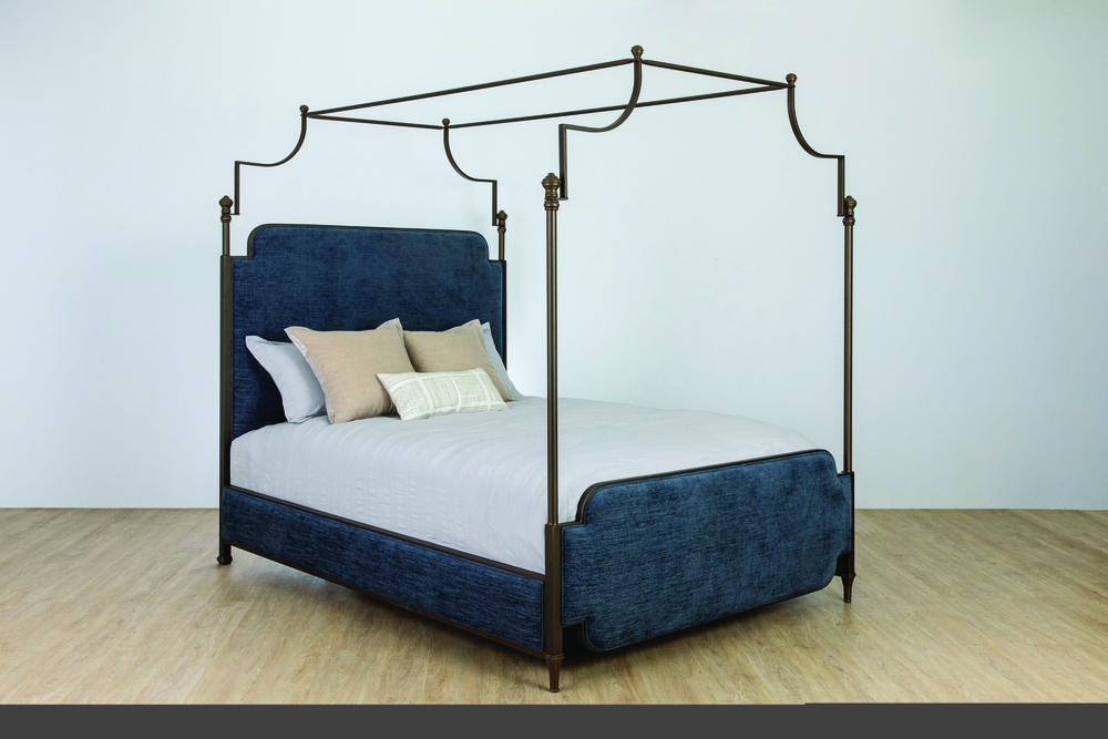 Wesley Allen - Complete Bed with Canopy And Fabric Sides