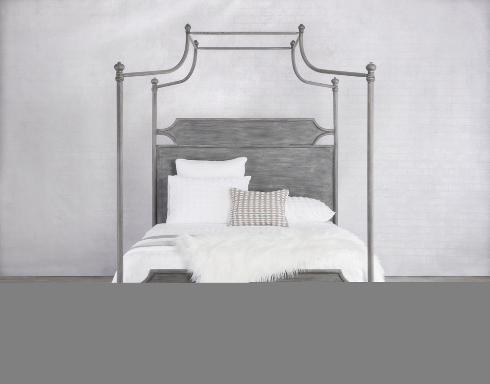 Wesley Allen - Complete Bed with Canopy And Metal Sides