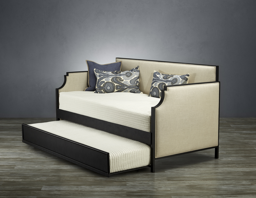 Wesley Allen - Day Bed with Profile & Metal Facing