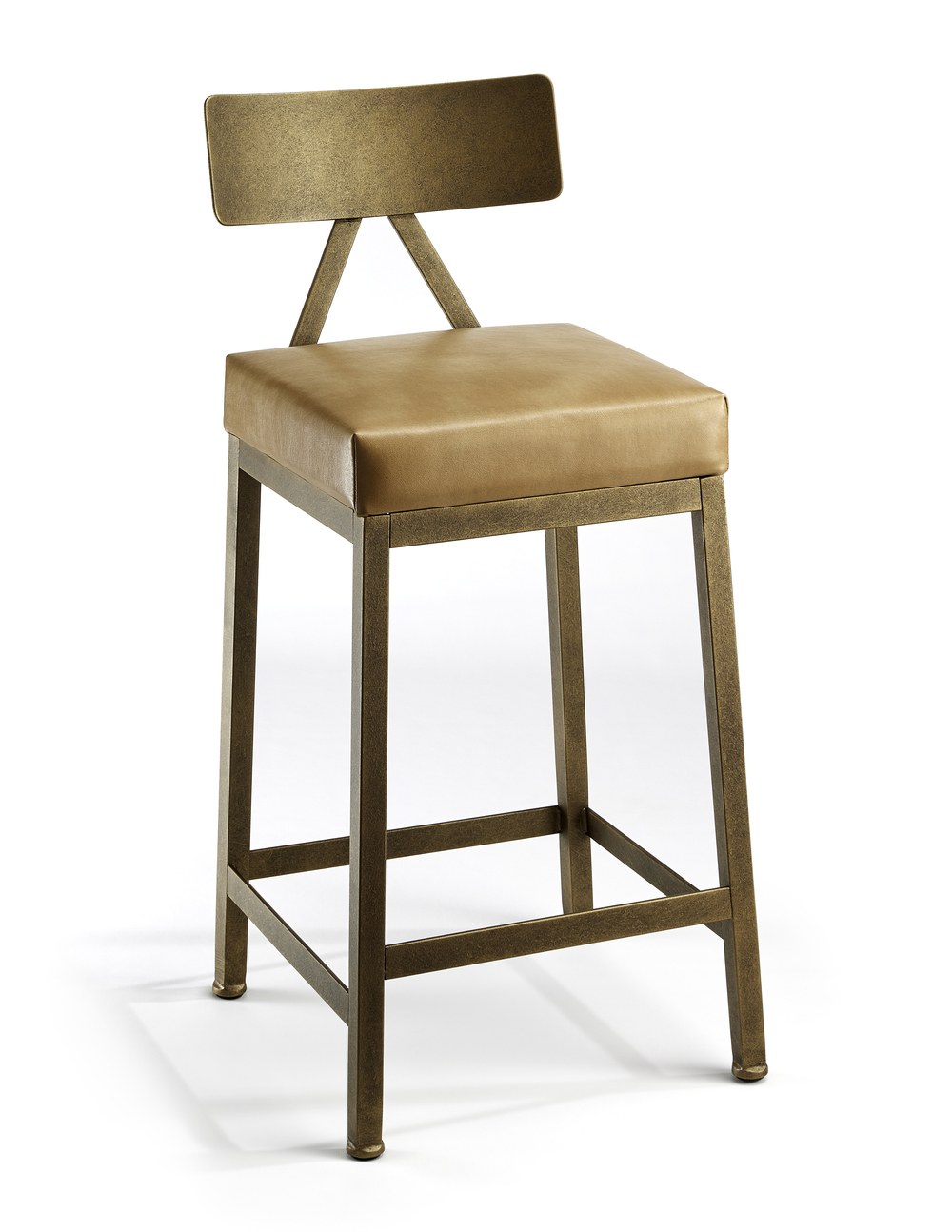 Wesley Allen - Non Swivel Stool with Back