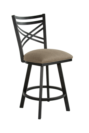 Thumbnail of Wesley Allen - Swivel Stool with Back, No Arms