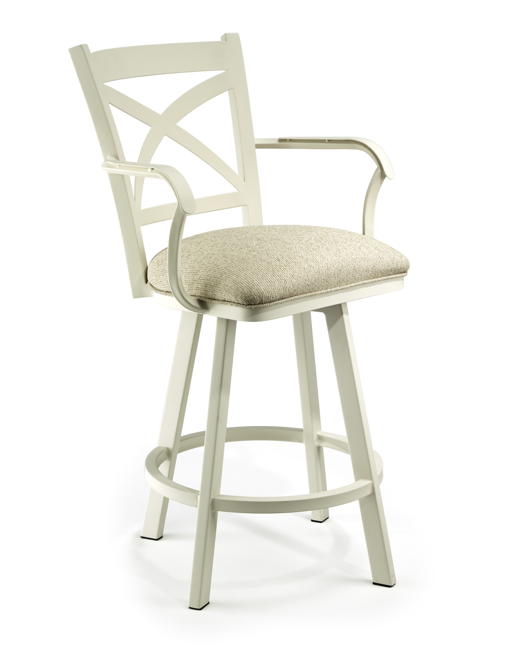 Wesley Allen - Swivel Stool with Back and Arms