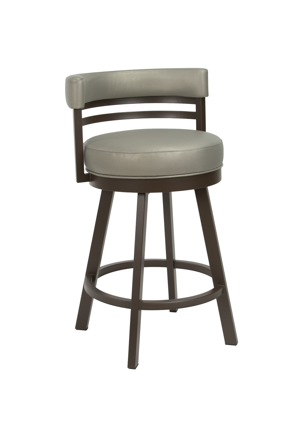 Wesley Allen - Swivel Stool with Back, No Arms
