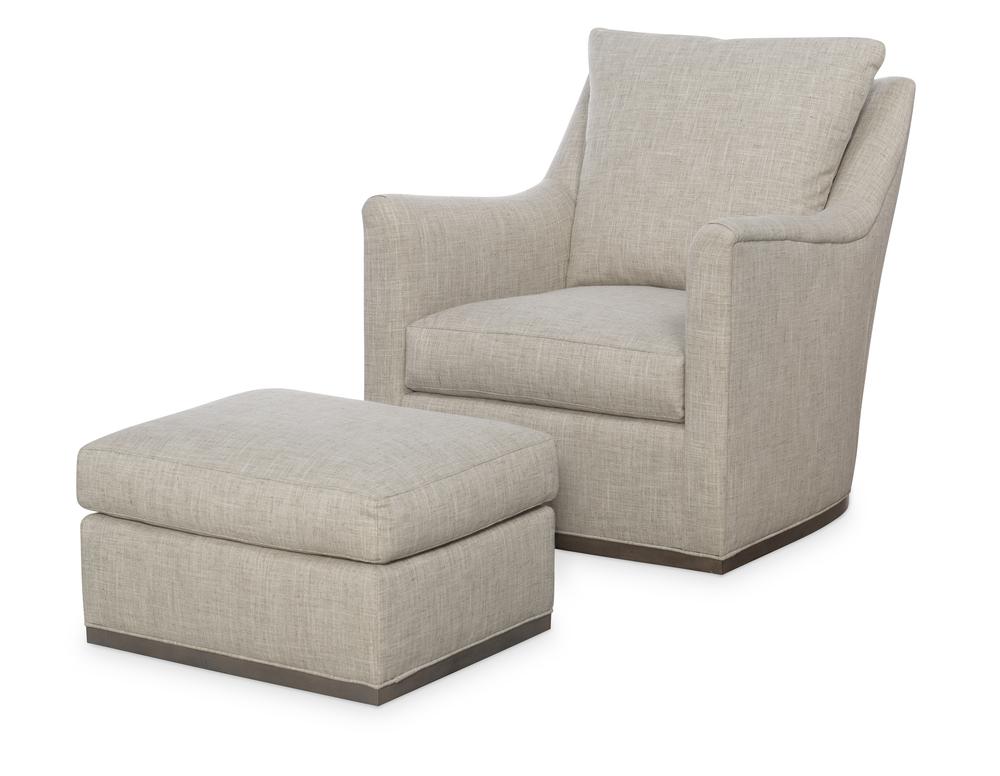 Wesley Hall - Jamestown Swivel Chair and Ottoman