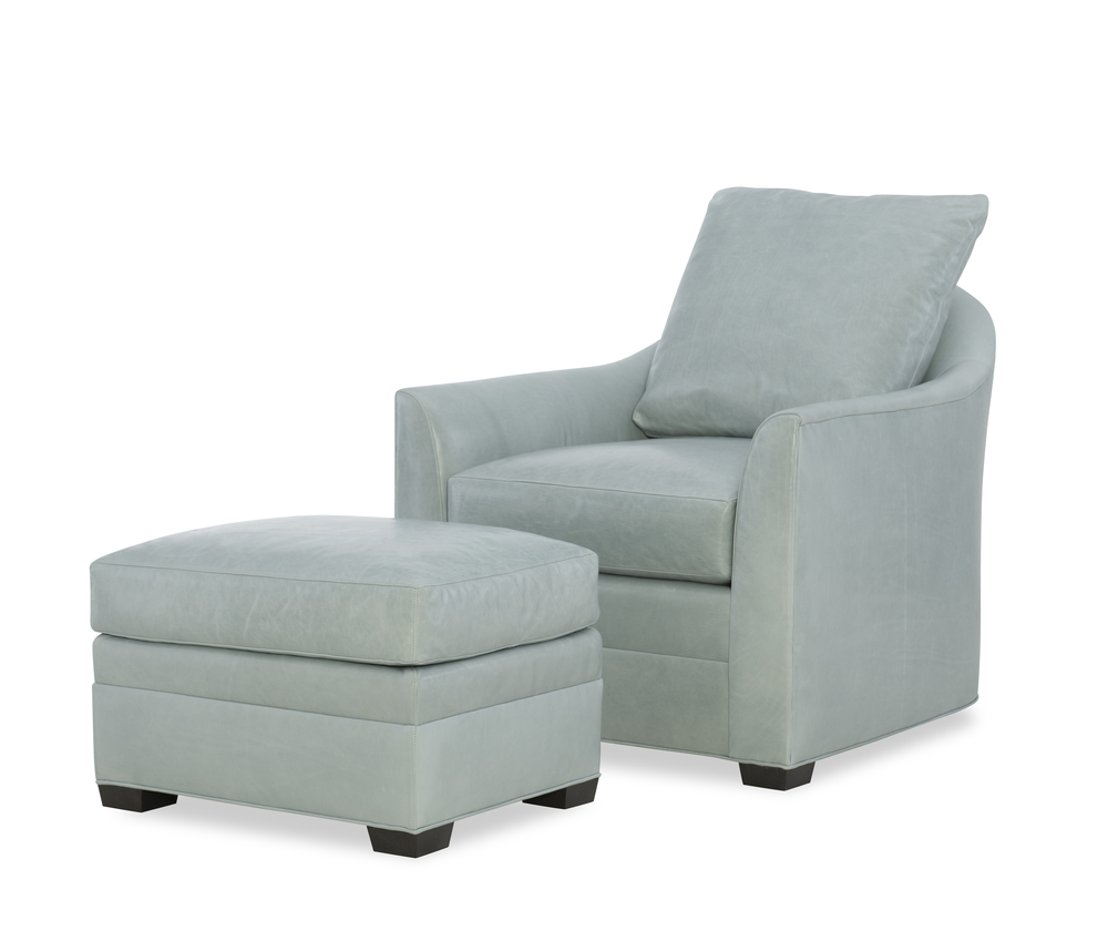 Wesley Hall - Gerringer Leather Chair and Ottoman