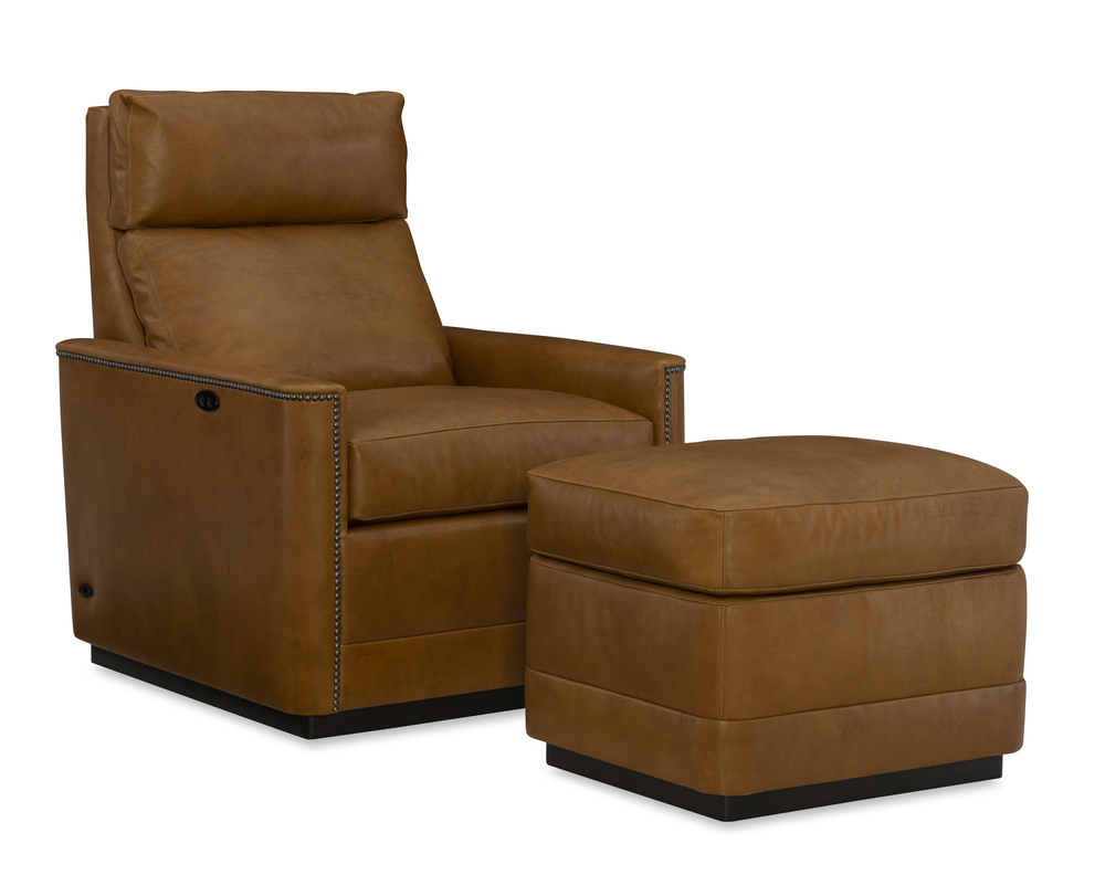 Wesley Hall - Talmon Leather Chair and Ottoman