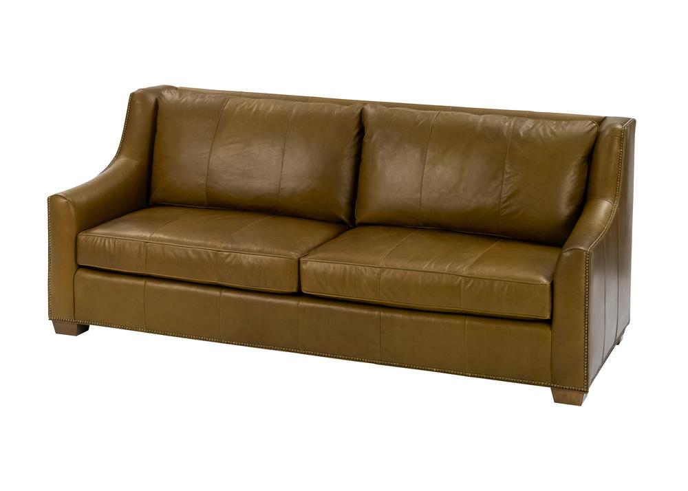 Wesley Hall - Leather Barrett Sofa