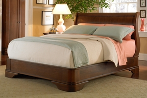 Thumbnail of West Bros - Louis Philippe Sleigh Bed with Euro Footboard