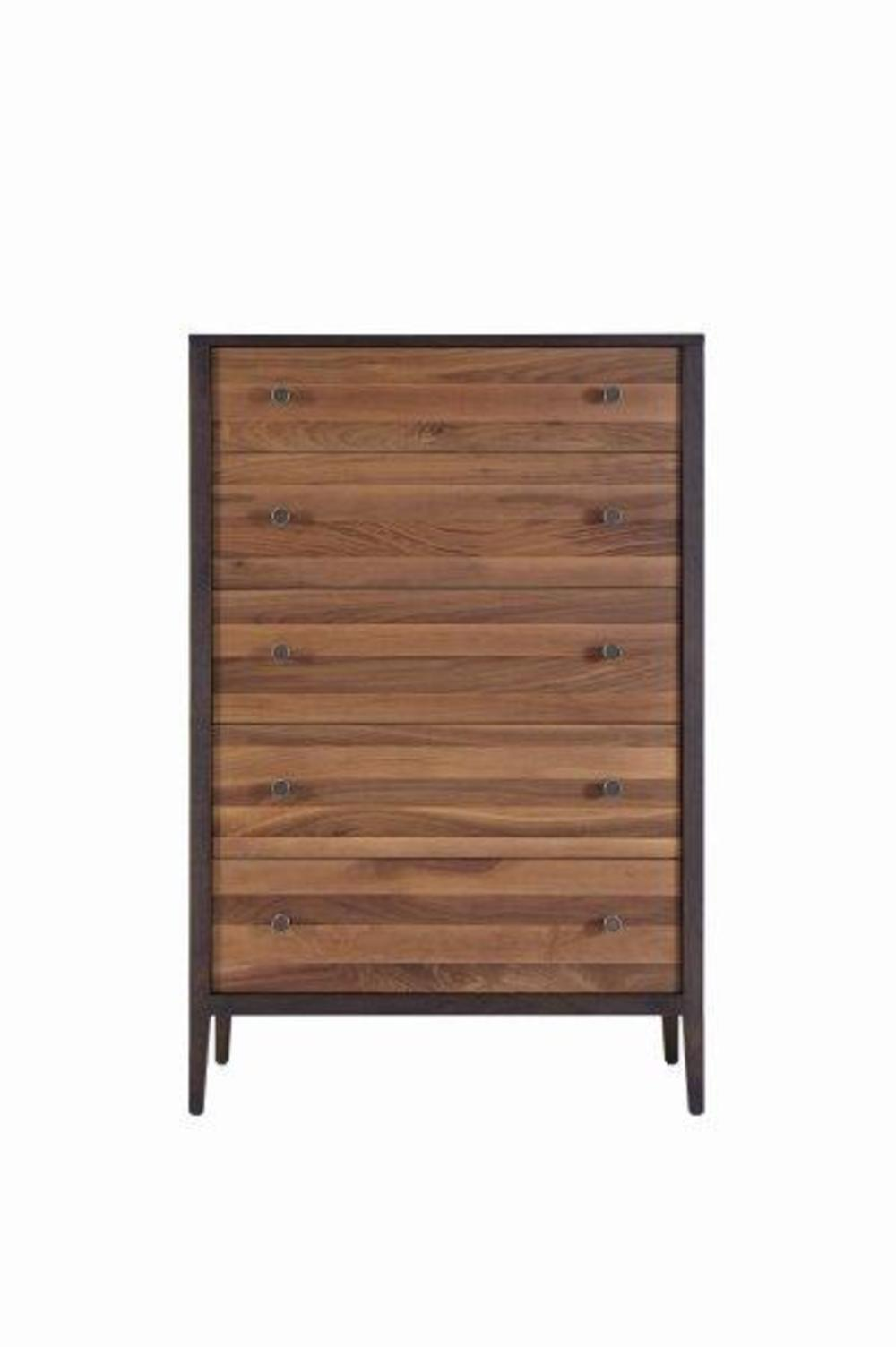 West Bros - Chest of Drawers with Walnut Stripe
