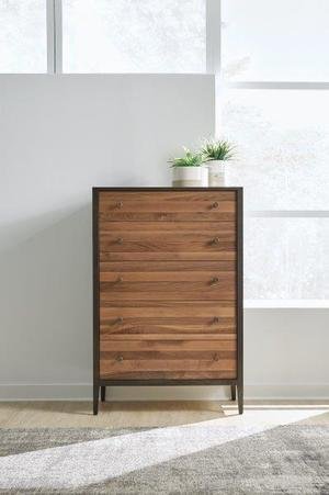 Thumbnail of West Bros - Chest of Drawers with Walnut Stripe