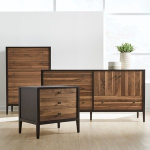 Thumbnail of West Bros - Bedside Chest, Walnut Stripe