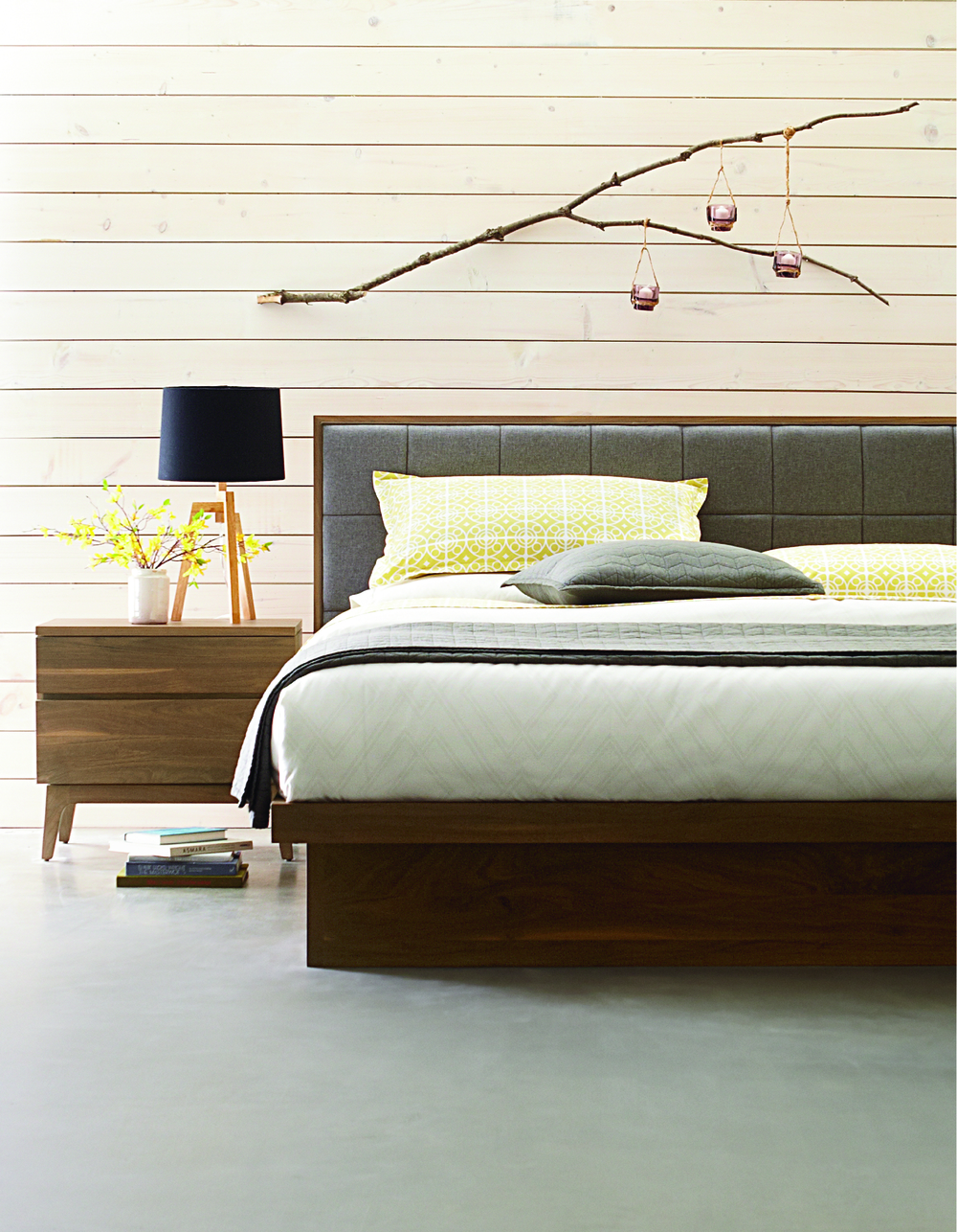 West Bros - Upholstered Panel Bed
