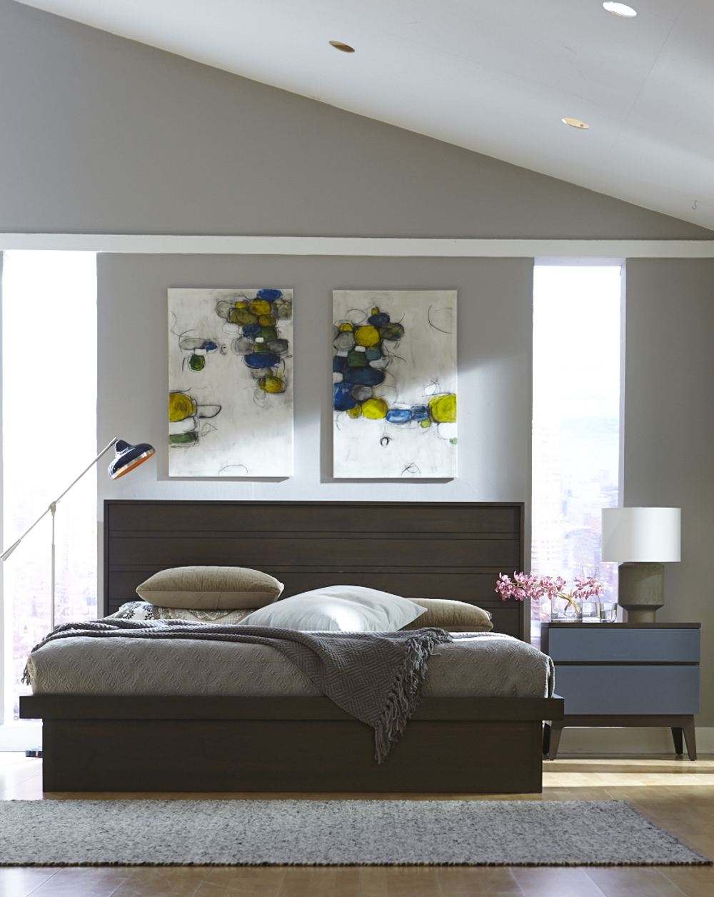 West Bros - Serra Panel Bed with Drawers