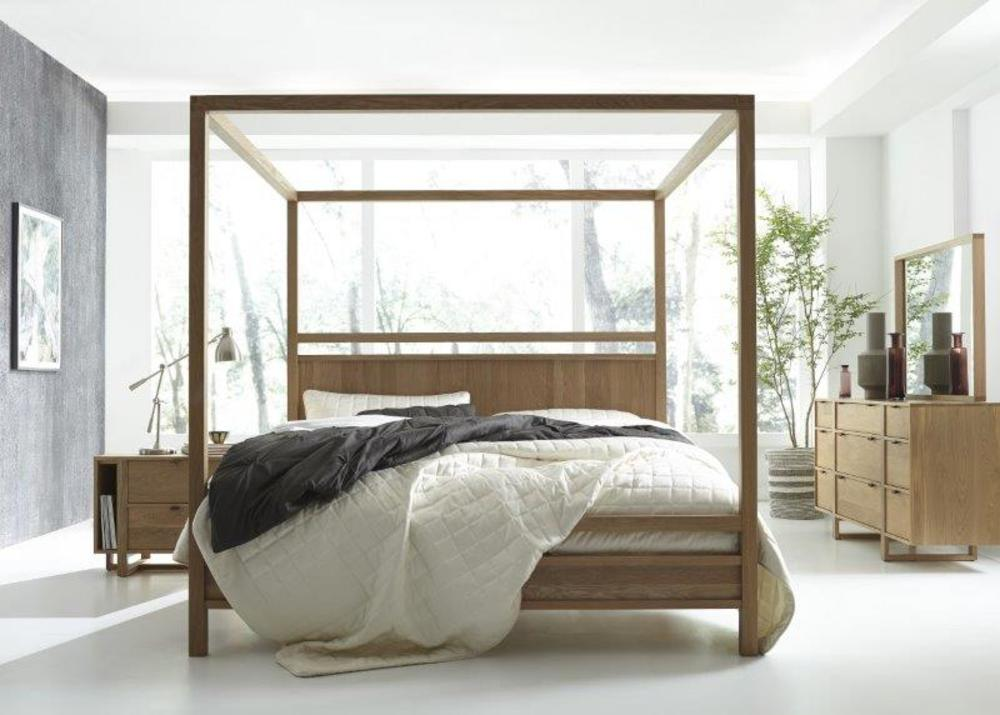 West Bros - Fulton Wood Poster Bed with Canopy