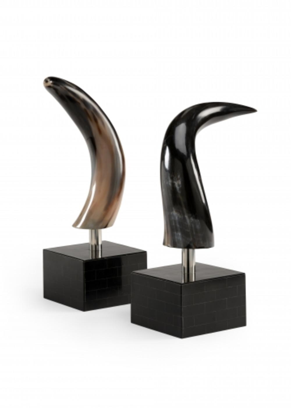 Wildwood Lamp - Mounted Buffalo Horn Bookends
